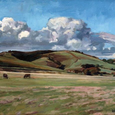 (CreativeWork) Johanna Hills by Peter Roccella. Oil Paint. Shop online at Bluethumb.
