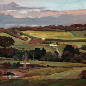 (CreativeWork) Flinders Landscape No1 by Peter Roccella. oil-painting. Shop online at Bluethumb.