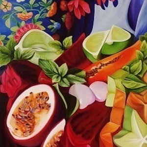 (CreativeWork) Delighting the Senses by Louise Taylor. arcylic-painting. Shop online at Bluethumb.