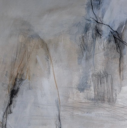 (CreativeWork) Mountains by Christine Scurr. arcylic-painting. Shop online at Bluethumb.