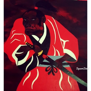 (CreativeWork) Ghost of Samurai by Gaye Ungermann. arcylic-painting. Shop online at Bluethumb.