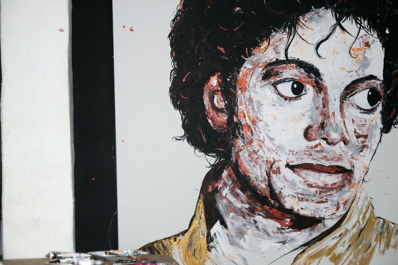 (CreativeWork) Michael Jackson by Tim Christinat. arcylic-painting. Shop online at Bluethumb.