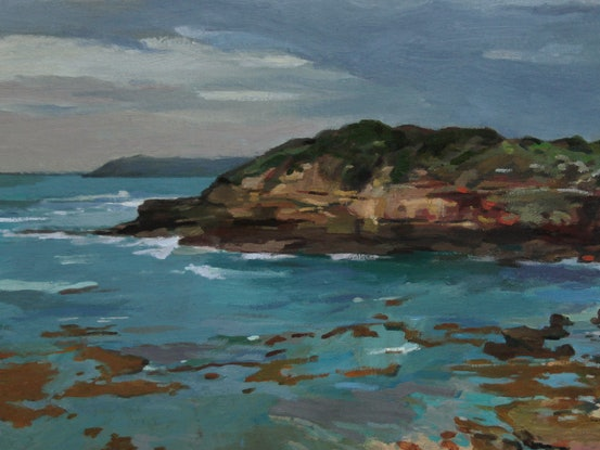 (CreativeWork) Portsea Coast by Peter Roccella. Oil Paint. Shop online at Bluethumb.