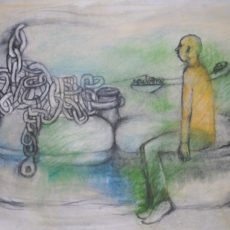 (CreativeWork) TIED TO THE MEMORY  by Chris Rowe. Drawings. Shop online at Bluethumb.