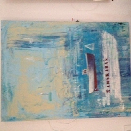 (CreativeWork) Couta Boat by David Benson. Acrylic Paint. Shop online at Bluethumb.