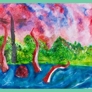 (CreativeWork) vapor by Adrian Crawford. oil-painting. Shop online at Bluethumb.