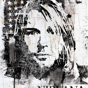 (CreativeWork) Street art Portrait of Kurt Cobain by INDO The Artist. print. Shop online at Bluethumb.