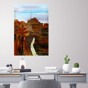 (CreativeWork) Canyon's Grand Colour    REDUCED by Nicole Hunt. arcylic-painting. Shop online at Bluethumb.