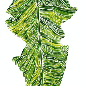 (CreativeWork) Waving banana leaf - optical illusion by iki Ku. other-media. Shop online at Bluethumb.