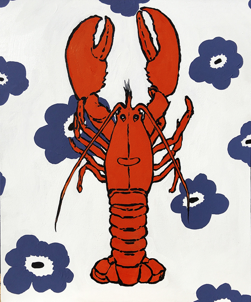 (CreativeWork) Scandinavian Crustacean by Donna Christie. oil-painting. Shop online at Bluethumb.
