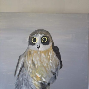 (CreativeWork) Owl by Jade Millard. arcylic-painting. Shop online at Bluethumb.
