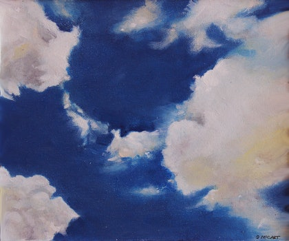 (CreativeWork) Cloud by Dennis Mccart. oil-painting. Shop online at Bluethumb.