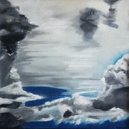 (CreativeWork) Cloud study, Coming storm by Dennis Mccart. oil-painting. Shop online at Bluethumb.