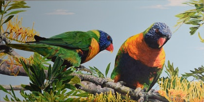 (CreativeWork) Top Pair by Oscar Giammichele. oil-painting. Shop online at Bluethumb.