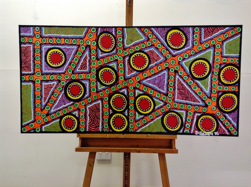 (CreativeWork) Journey of Self by Tania Ault. arcylic-painting. Shop online at Bluethumb.