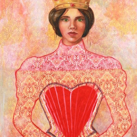 (CreativeWork) The Red Queen by Leah Mariani. Oil Paint. Shop online at Bluethumb.