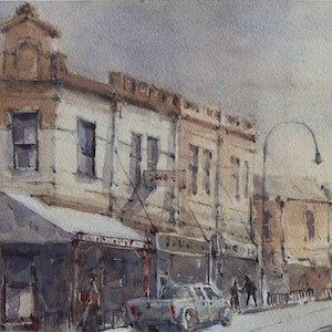(CreativeWork) Moonee Ponds by Natthapol Chaiyatam. watercolour. Shop online at Bluethumb.