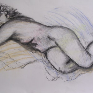 (CreativeWork) DREAMING OF YOU by Chris Rowe. drawing. Shop online at Bluethumb.