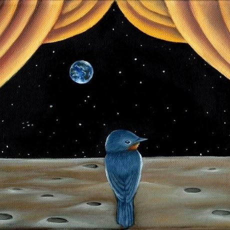 (CreativeWork) Homesick at space camp by Carla Osinski. Oil Paint. Shop online at Bluethumb.