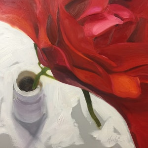 (CreativeWork) A rose by any other name by Chris Martin. oil-painting. Shop online at Bluethumb.