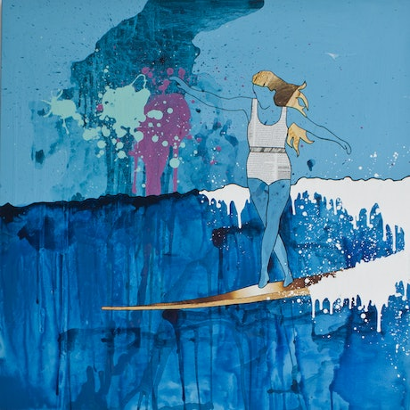 "(CreativeWork) Surf Ocean Art ""Saskia"" Ed. 10 of 200 by Amanda Davidson. Print. Shop online at Bluethumb."