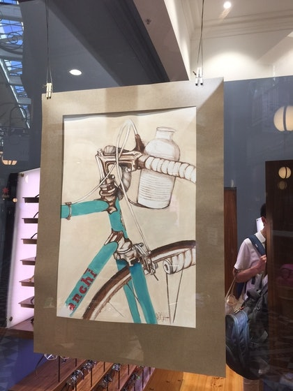 (CreativeWork) Bianchi Blue by Andrew Bischoff. mixed-media. Shop online at Bluethumb.