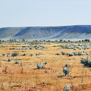 (CreativeWork) Tent Hill South Australia by Francis McMahon. watercolour. Shop online at Bluethumb.