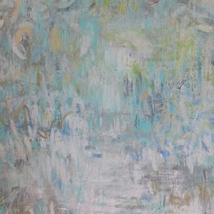 (CreativeWork) Tropical Walk by Andrea Edwards. arcylic-painting. Shop online at Bluethumb.