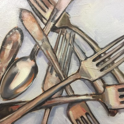 (CreativeWork) Give a fork... by Chris Martin. #<Filter:0x00007fa5704c2f30>. Shop online at Bluethumb.