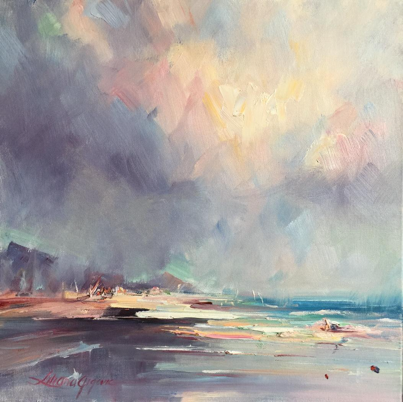 "(CreativeWork) ""Cumulus glow #6"" - Portsea by Liliana Gigovic. oil-painting. Shop online at Bluethumb."