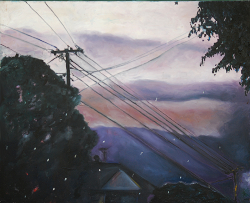 (CreativeWork) Summer Storms by Karleen Gwinner. oil-painting. Shop online at Bluethumb.