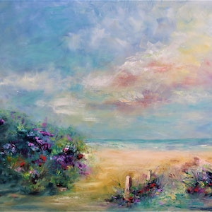 (CreativeWork) Beautiful Western Australia coast by Zdenka Better. oil-painting. Shop online at Bluethumb.
