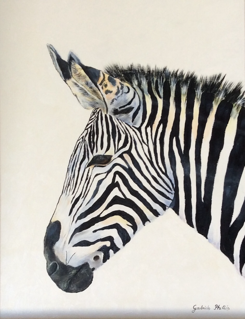 (CreativeWork) Zebra by Gabriele Phillis. arcylic-painting. Shop online at Bluethumb.