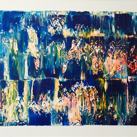 (CreativeWork) Below the Ocean by Imron .. Acrylic Paint. Shop online at Bluethumb.