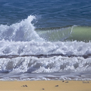 (CreativeWork) Wave Study 6 by Julie Cane. oil-painting. Shop online at Bluethumb.