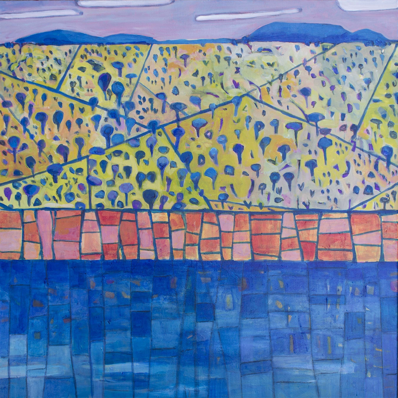 (CreativeWork) The Murray by Matthew Broughton. Acrylic Paint. Shop online at Bluethumb.