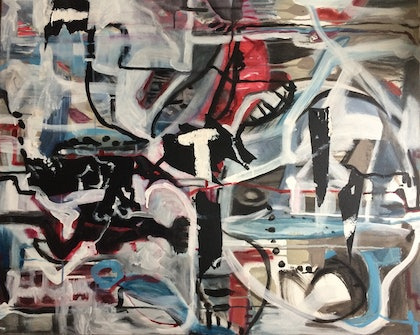 (CreativeWork) T Junction by alexandra gray. mixed-media. Shop online at Bluethumb.