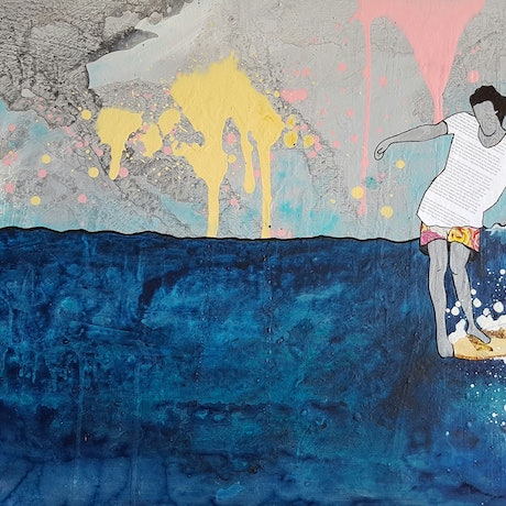 "(CreativeWork) Surf Ocean Art ""Ted"" Ed. 10 of 200 by Amanda Davidson. Print. Shop online at Bluethumb."