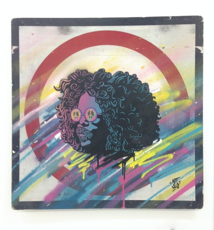 (CreativeWork) Andrew Stockdale (Wolfmother) by A U S T I N N I T S U A. arcylic-painting. Shop online at Bluethumb.