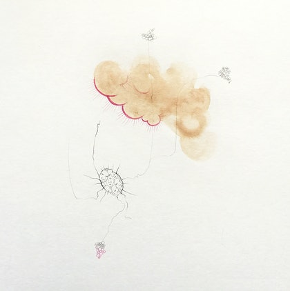 (CreativeWork) Cracks Are Showing by Mona Choo. drawing. Shop online at Bluethumb.