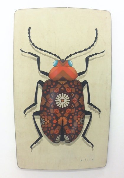 (CreativeWork) Brian the Beetle by A U S T I N N I T S U A. arcylic-painting. Shop online at Bluethumb.