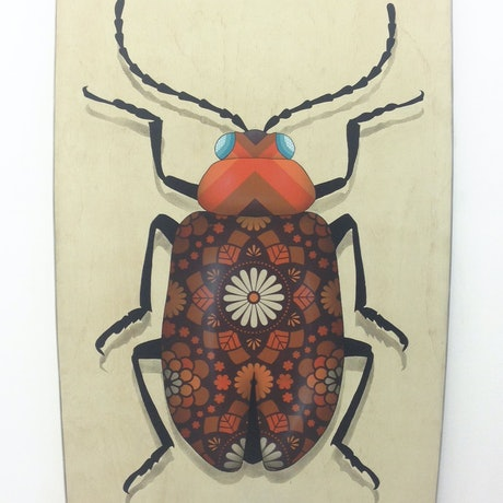 (CreativeWork) Brian the Beetle by A U S T I N N I T S U A. Acrylic Paint. Shop online at Bluethumb.