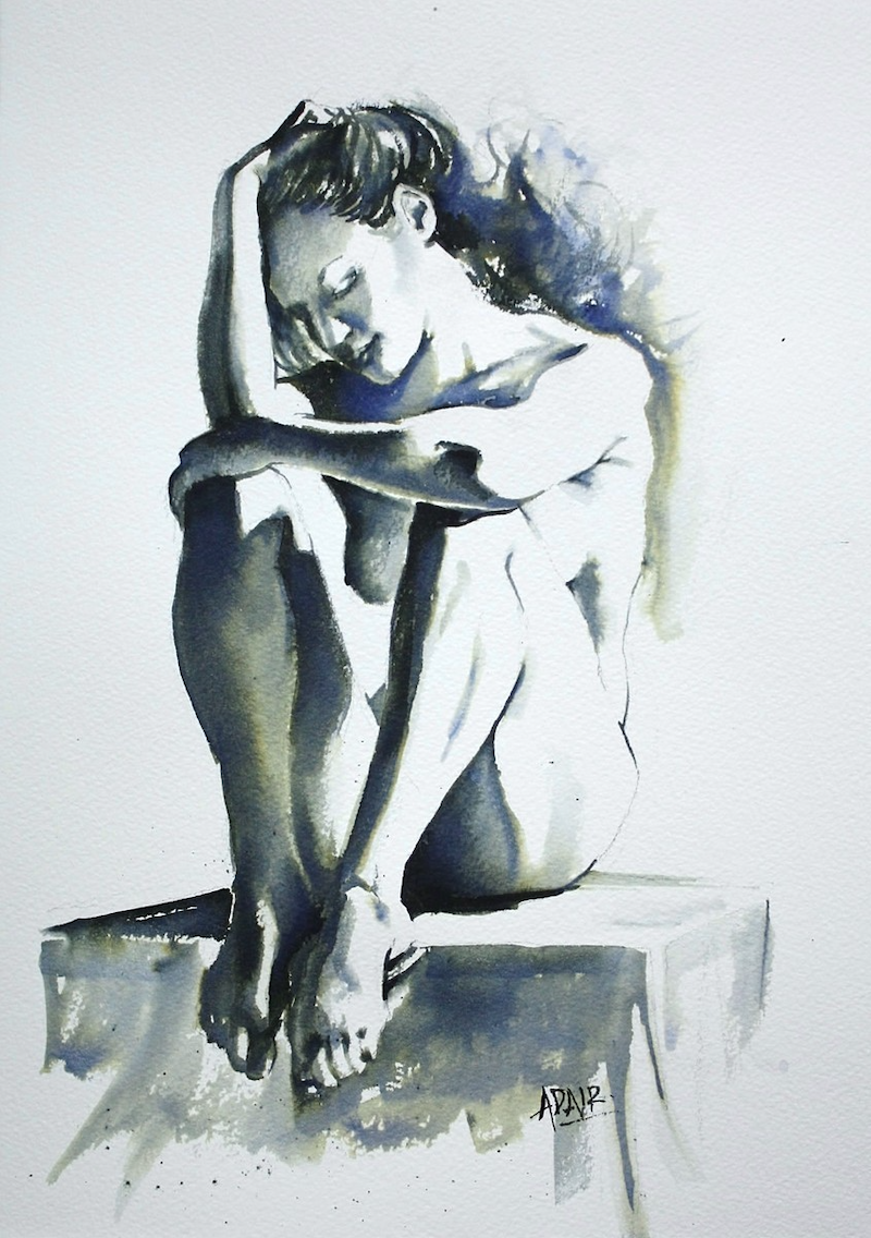 """(CreativeWork) """"Quiet Moment"""" by Pauline Adair. other-media. Shop online at Bluethumb."""