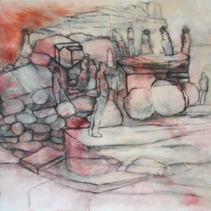 (CreativeWork) RELIC #2 by Chris Rowe. drawing. Shop online at Bluethumb.