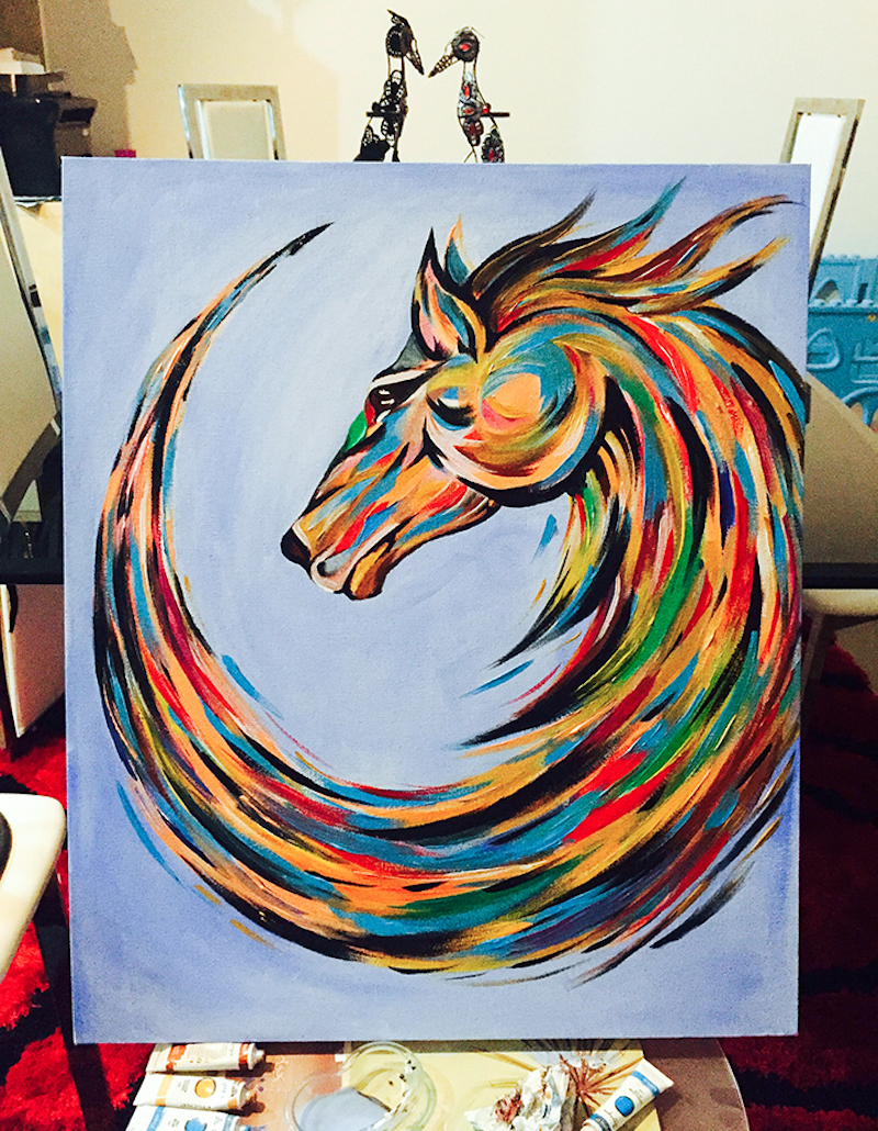 (CreativeWork) Fierce Horse Painting by Vipin KC. arcylic-painting. Shop online at Bluethumb.