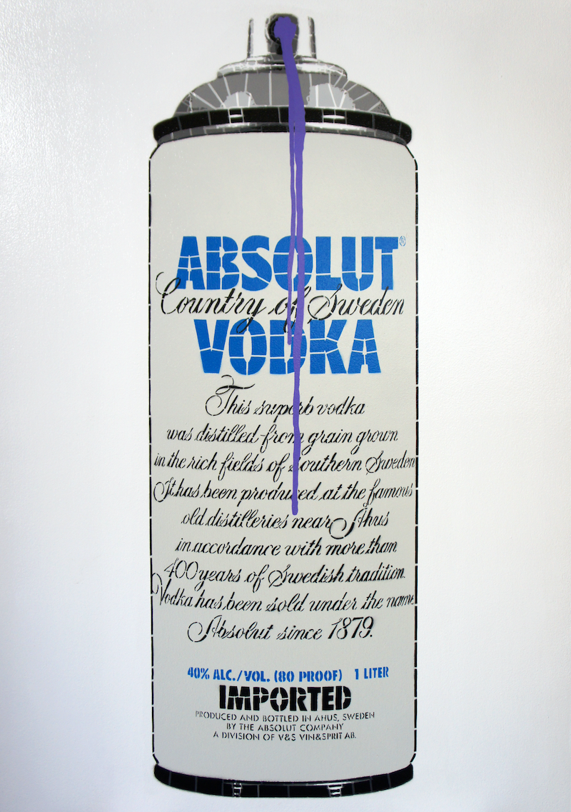 (CreativeWork) Yes Absolut (Ed. 3 of 6) by Campbell La Pun. arcylic-painting. Shop online at Bluethumb.