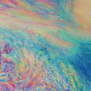 (CreativeWork) Ocean Prism by In Sun Park. oil-painting. Shop online at Bluethumb.