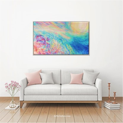 (CreativeWork) Ocean Prism by In Sun Park. Oil Paint. Shop online at Bluethumb.