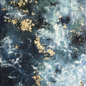 (CreativeWork) Wave by Michelle Angelique. mixed-media. Shop online at Bluethumb.
