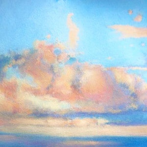 (CreativeWork) CLOUD STUDY by Corey Brooks. oil-painting. Shop online at Bluethumb.